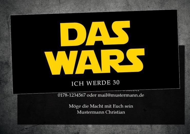 Einladung Zum 30 Geburtstag Star Wars Logo Das Wars Einladung