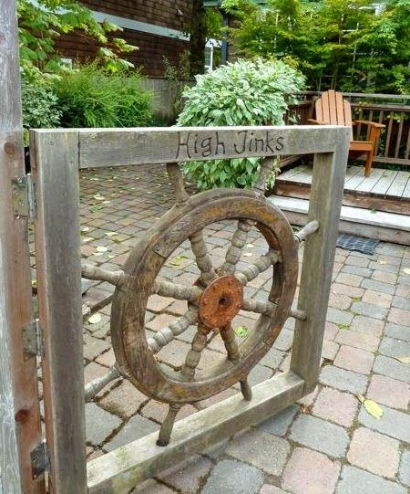 Ship Wheel Entry Gate Http Www Pletely Coastal 2017 06 Outdoor Nautical Curb Eal Ideas Html