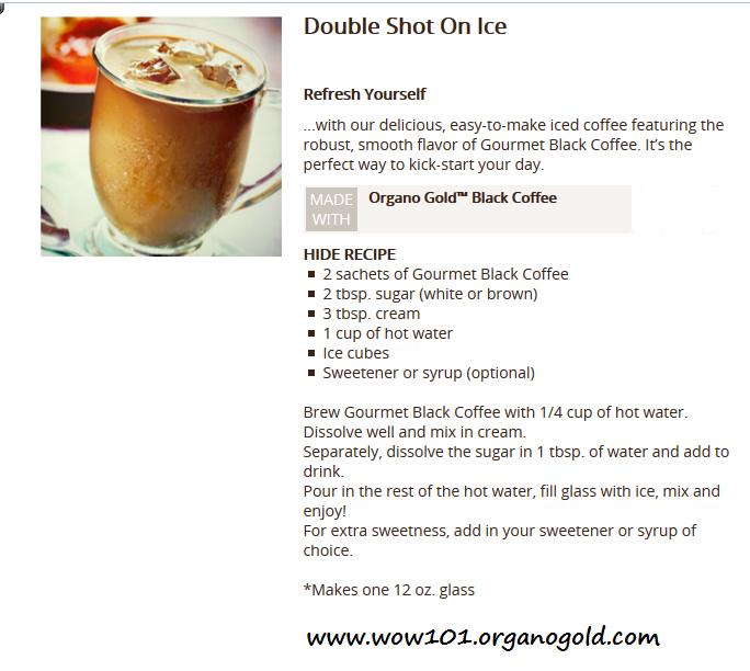 Starbucks Cold Brew Recipe Card