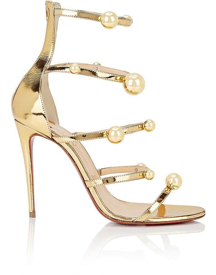e52ba632f1a9 CHRISTIAN LOUBOUTIN Atonana Specchio Leather Sandals.  christianlouboutin   shoes