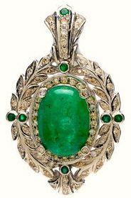 Cabochon Emerald Pendant