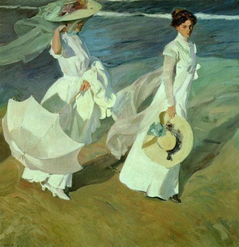 """""""Women walking on the Beach"""" ~ 1909 ~ Joaquin Sorolla y Bastida"""