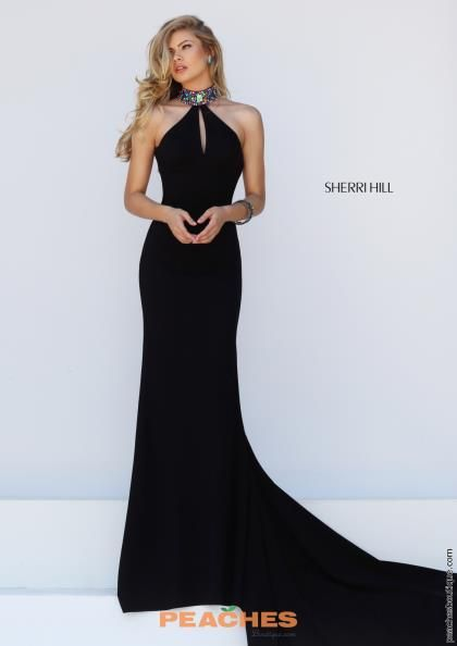 hill halter Sherri dress black