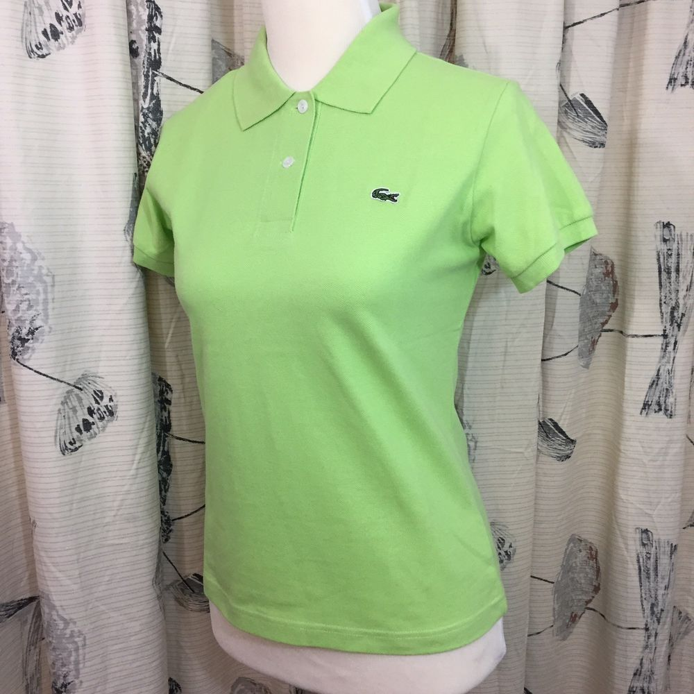 LACOSTE  Caiman Polo in Lime Green NWT
