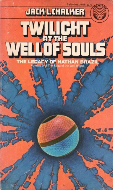 Publication: Twilight at the Well of Souls: The Legacy of Nathan Brazil Authors: Jack L. Chalker Year: 1980-10-00 ISBN: 0-345-28368-6 [978-0-345-28368-9] Publisher: Del Rey / Ballantine Cover: Darrell K. Sweet