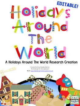 This EDITABLE Holidays Around The World/Christmas Around The World Research Creation has been designed to help your students learn how different cultures and countries celebrate the Christmas holidays.  This creation makes bringing research and writing into your classroom easy and manageable.