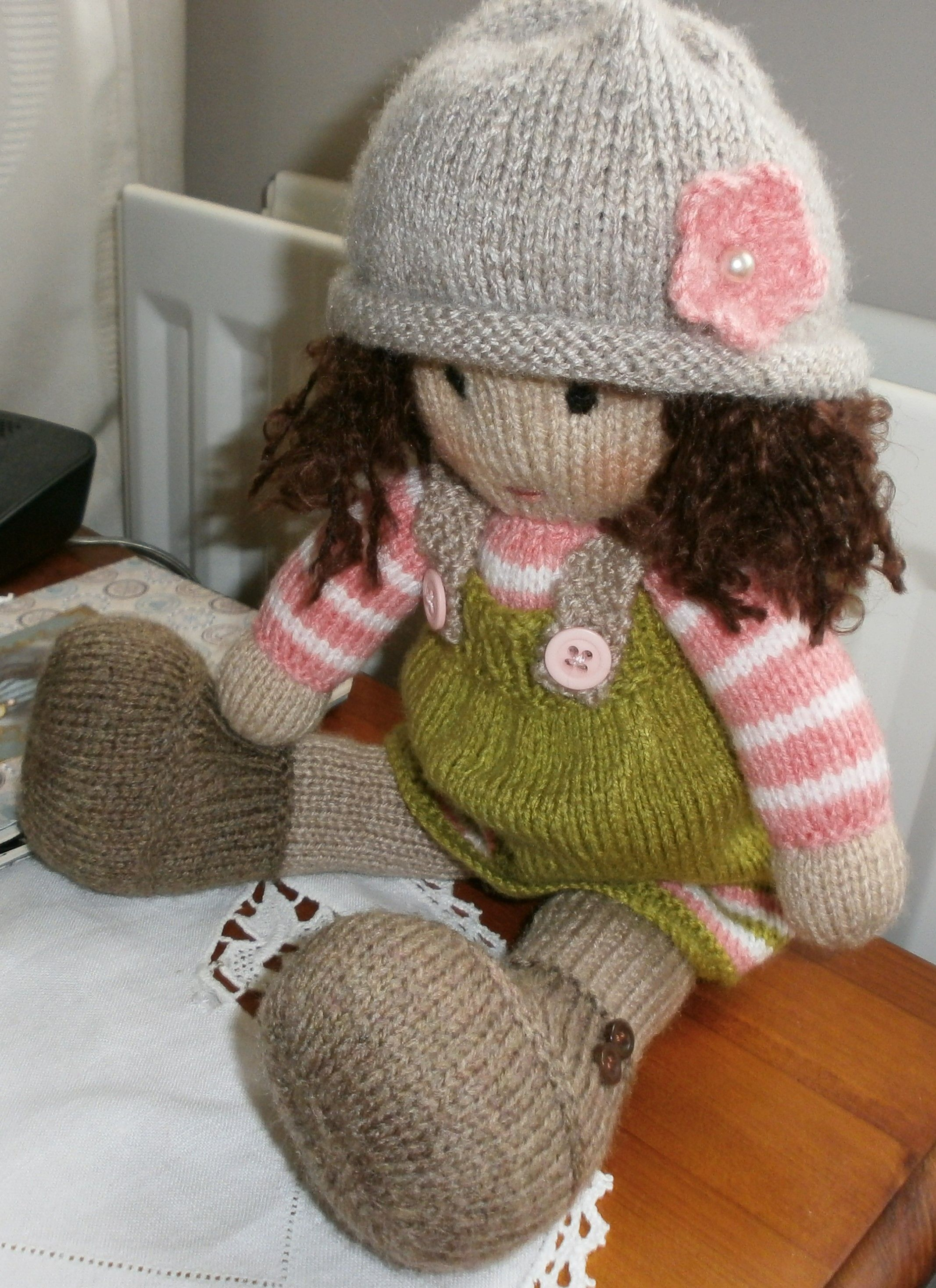 Dulcie doll pattern by maryjanes tearoom maryjanes tea room dulcie was knit from a pattern called tea room dolls by audrey haywood bankloansurffo Image collections