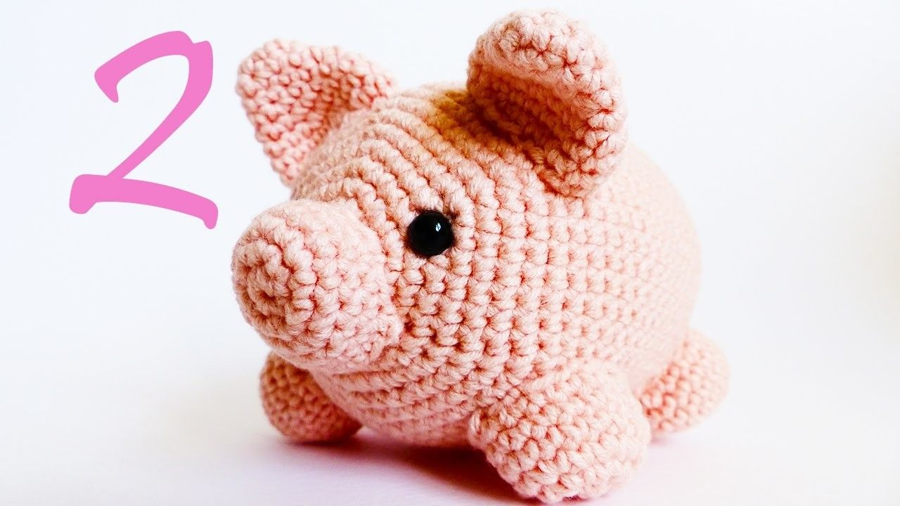 Amigurumi pig talisman animal free crochet pattern tutorial | 720x1280