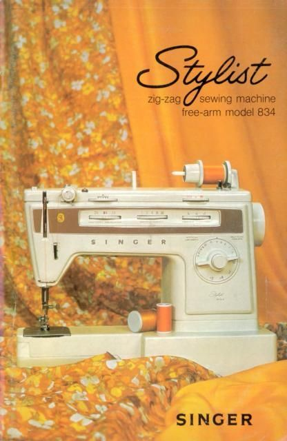 Singer stylist model 834 sewing machine instruction manual for Machine a coudre kenmore modele 385