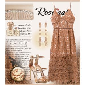 ROSEGAL Lace cocktail dress