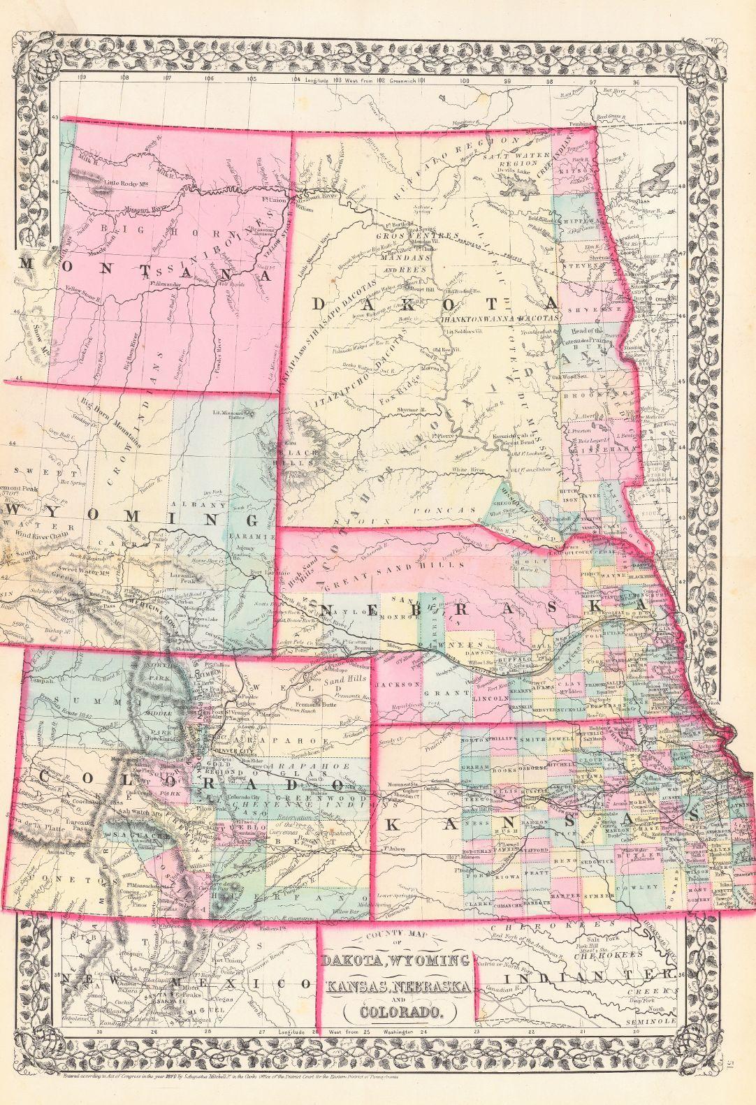 Map Of Colorado And Wyoming : colorado, wyoming, Colorado