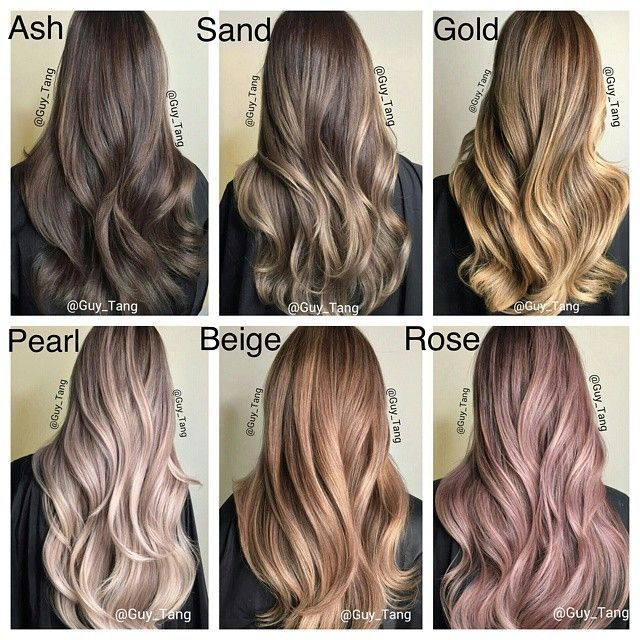 ash hair color chart