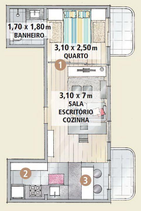 small-apartment-design-ideas-floorplan for the house Pinterest