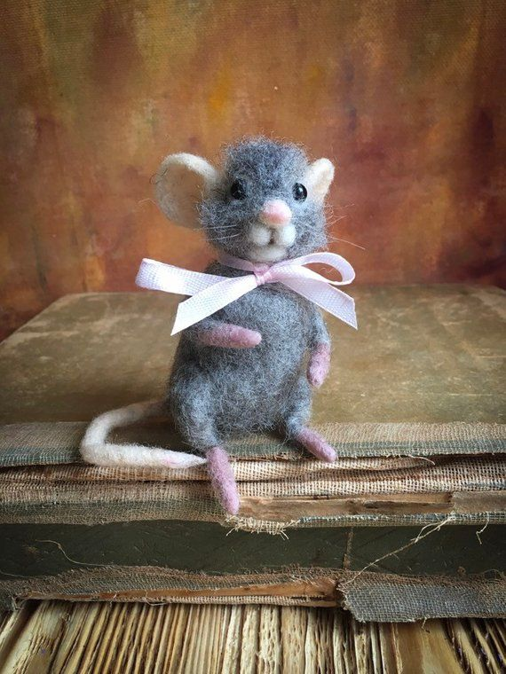 Miniatur-Maus-Geschenk, wenig Filzmaus. Muttertagsgeschenk #felttoys