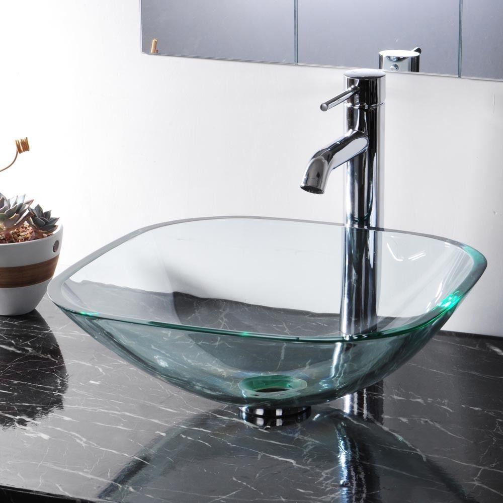 Details About Tempered Glass Bathroom Vessel Sink Washroom Natural