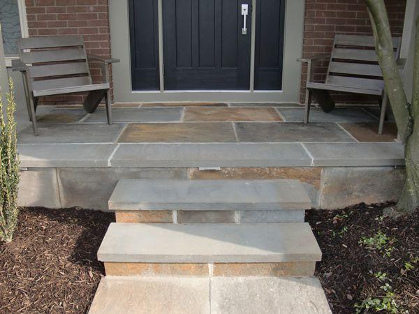 Blue Stone Porch Stone Porches Front Door Steps Bluestone Steps