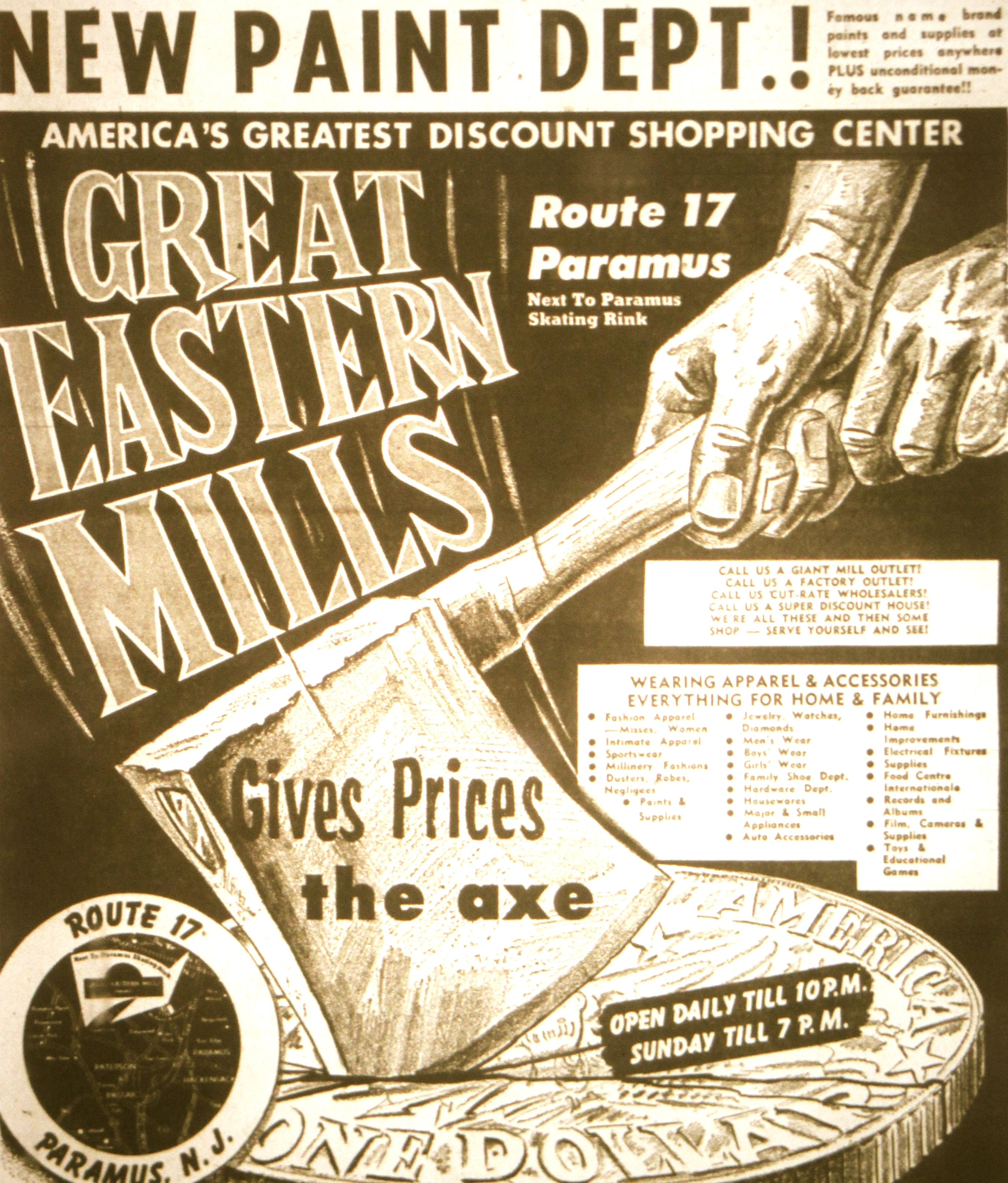 grand opening channel lumber in middletown nj early 70 s great eastern mills ad from 1957