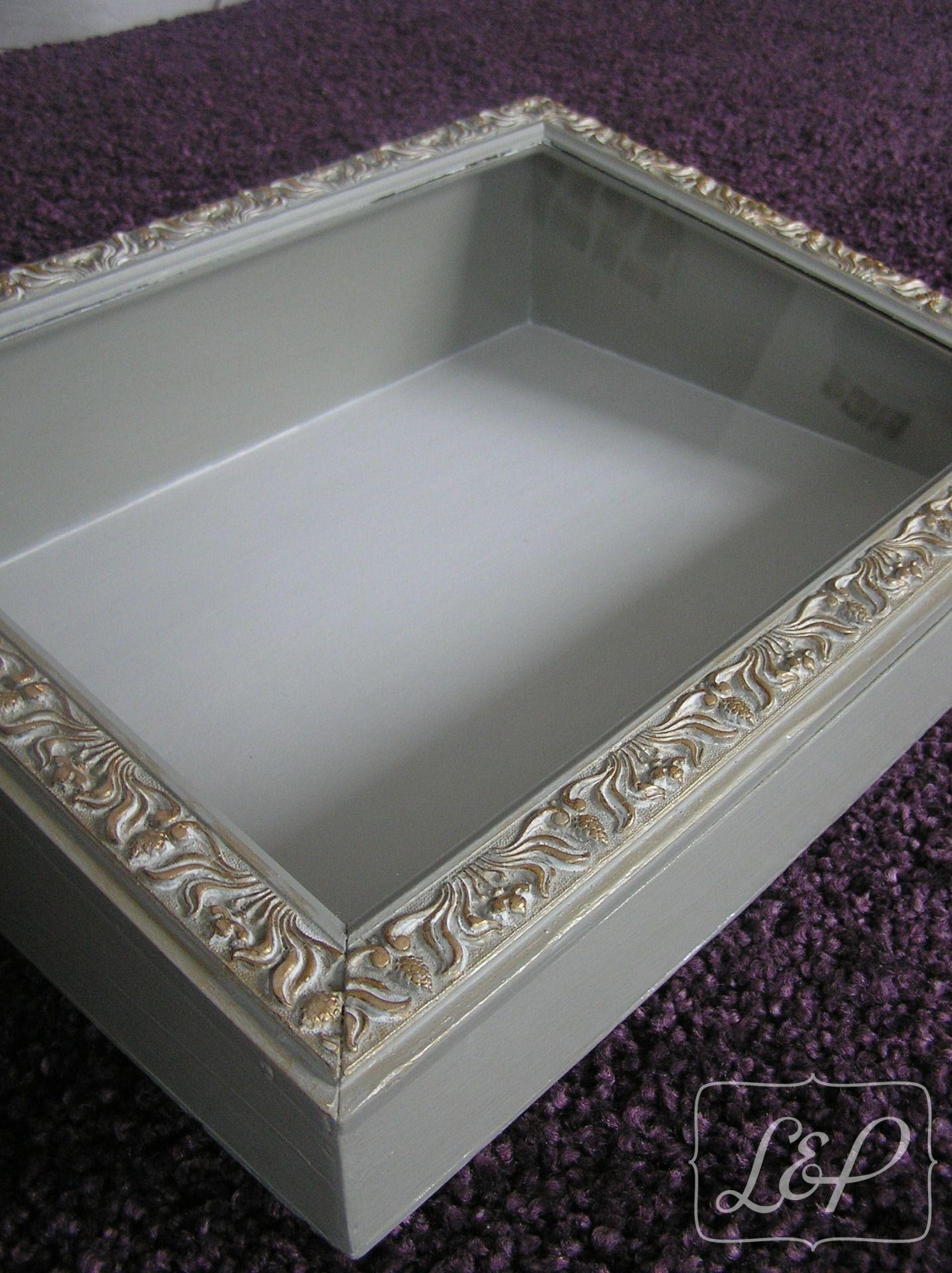 Pr sentoir cadre ancien patin en gris vert et dor am lya meubles et cadre sweet home - Salon des travaux manuels ...