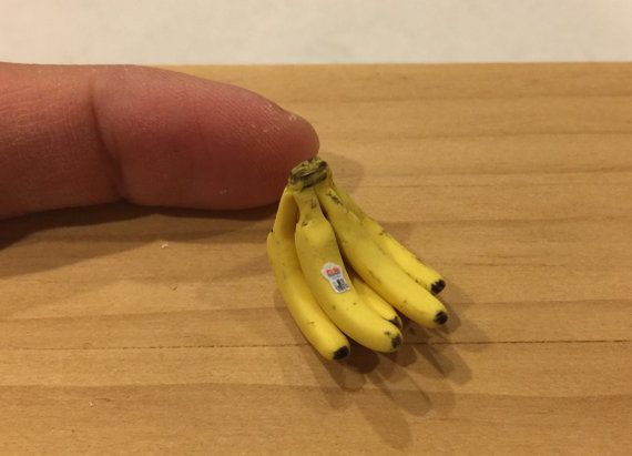 1 3  Miniatures Bunches of Bananas for your Dollhouse Kitchen 2 Scale 1:12