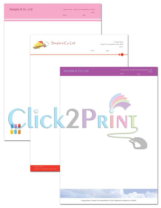 Business Letterhead (Urgent Printing Services) Use for - professional letters