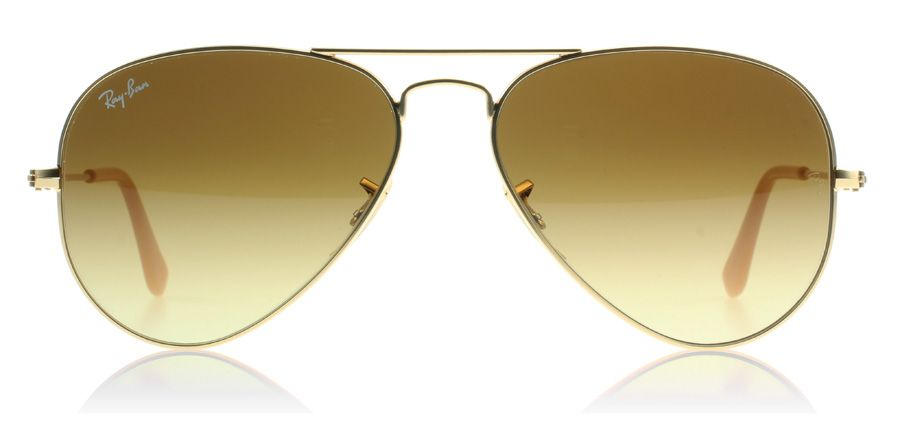 golden aviators  Ray-Ban 3025 Aviator Sunglasses : 3025 Aviator Matte Gold 112/85 ...