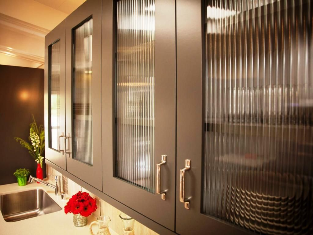Modern Glass Kitchen Cabinet Doors Styles | Time to remodel | Pinterest