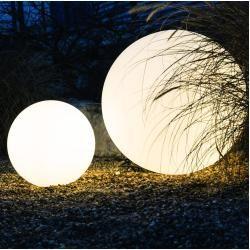 Licht-Trend Bolla Garten Aussenkugel Ø 45cm Weiss Kugellampe Kugelleuchte