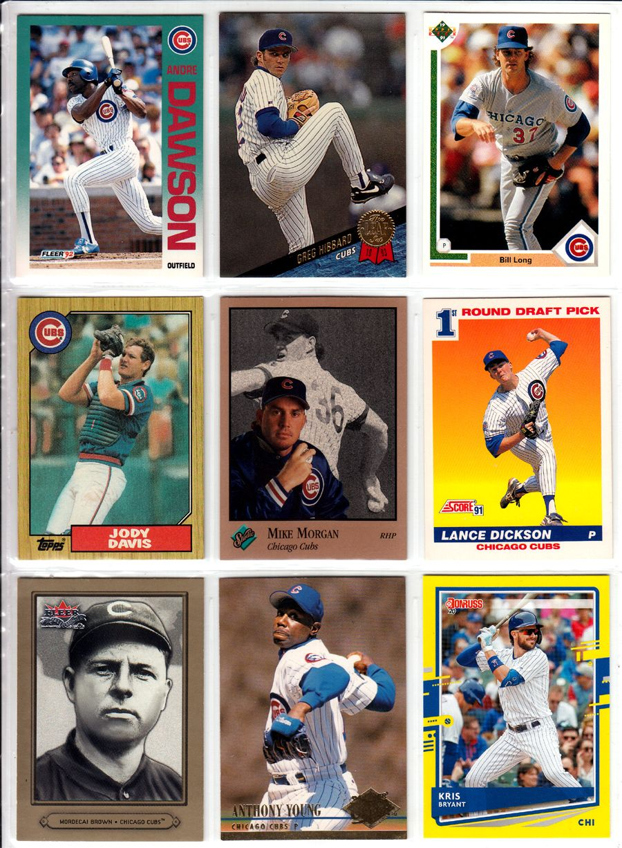 Chicago Cubs Trading Cards Set Mystery Pack
