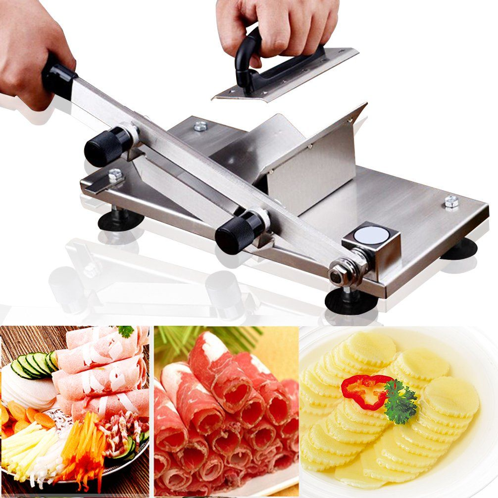 Frozen Meat Slicer Cutting Manual Control, Stainless Steel Meat ...