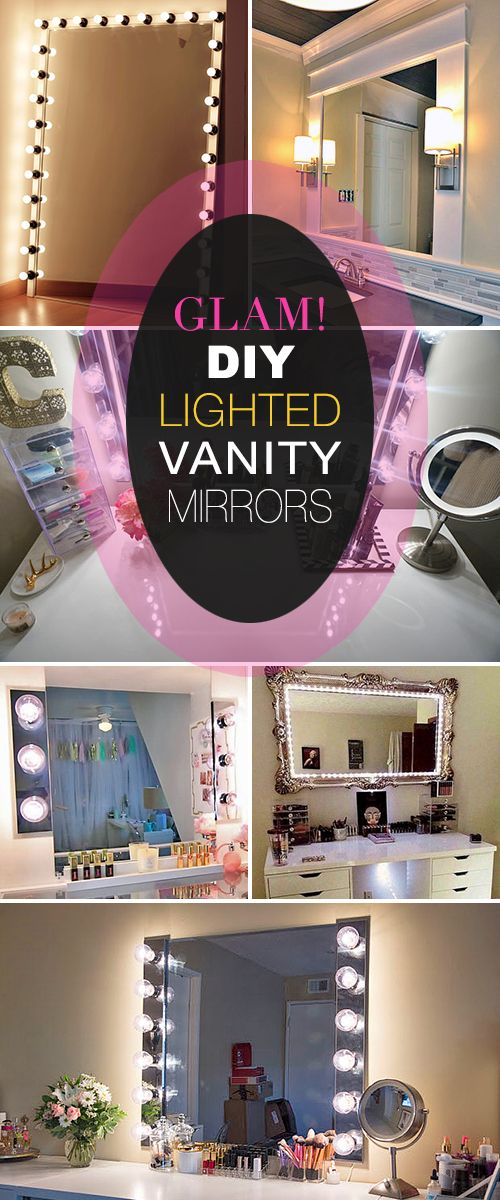 Glam Diy Light Up Vanity Mirror Projects With Images Diy