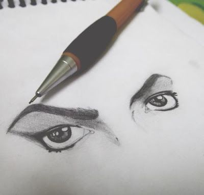 MJ drawing- I'm lost in your eyes...