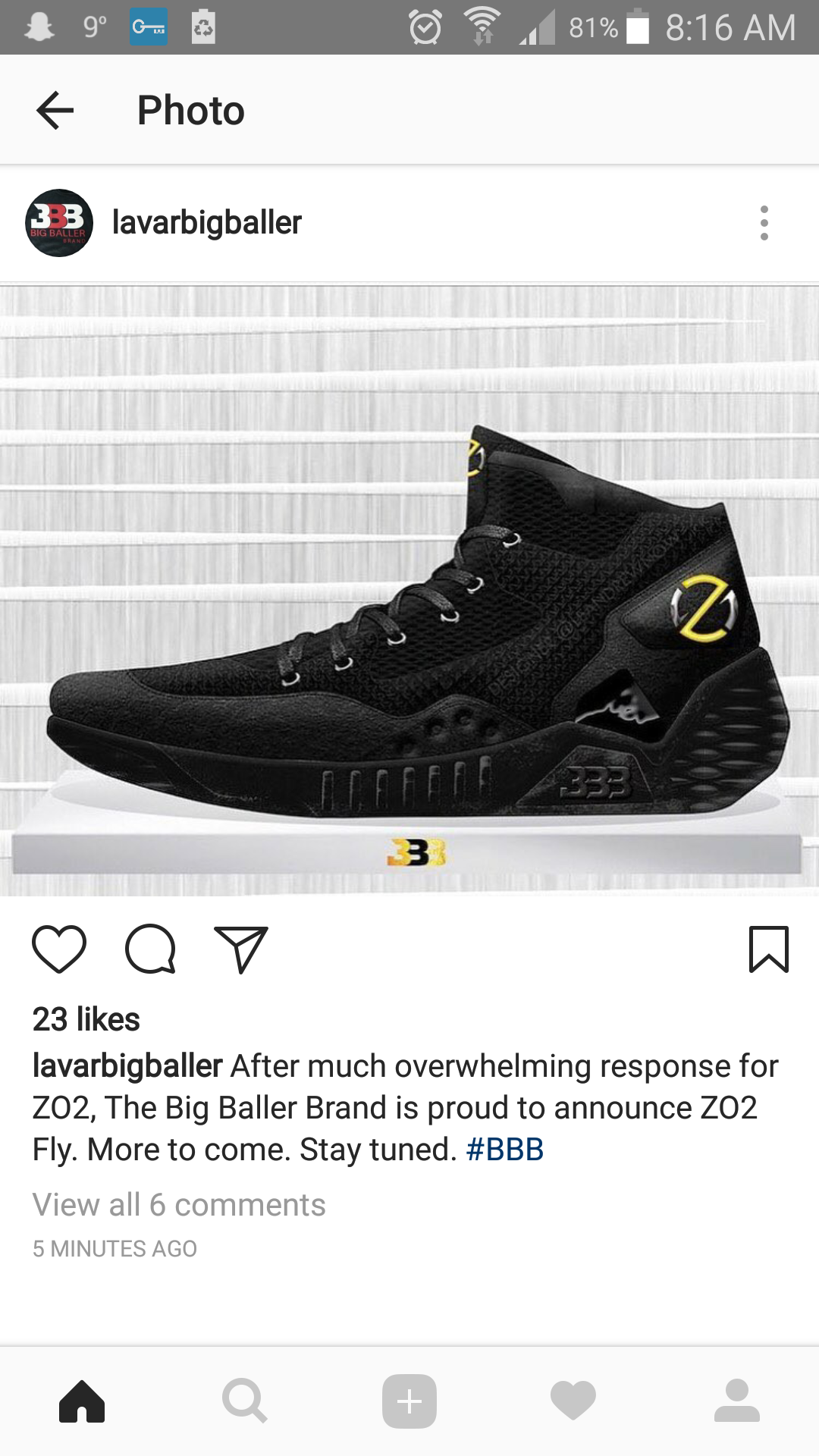 da855e5ba365 Big Baller Brand releases the look of their newest shoe   ZO2 Fly ...