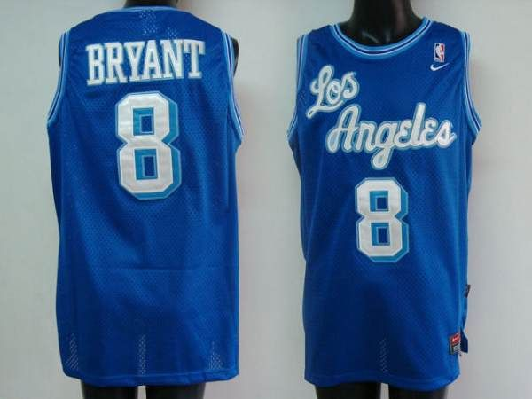 aff2cc98c Lakers  8 Kobe Bryant Stitched Blue NBA Jersey
