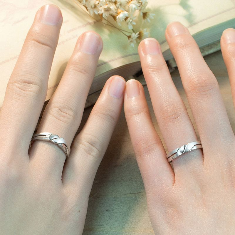 Interlocking Wedding Rings For Couples Infinity Interlocking Wedding Rings Wedding Ring Bands Couple Wedding Rings