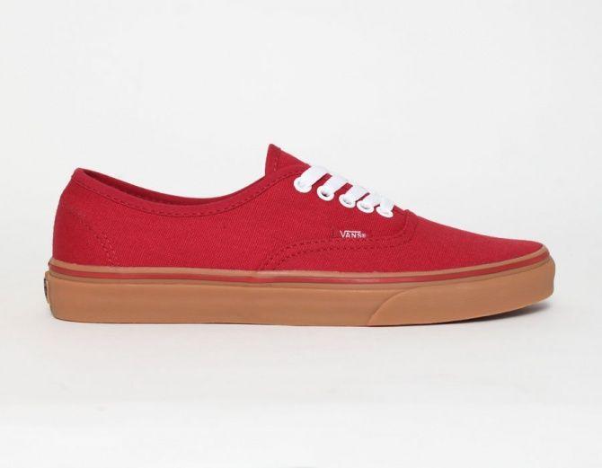 b113f938ee J aime  Vans Authentic Gum Red  Sneakers