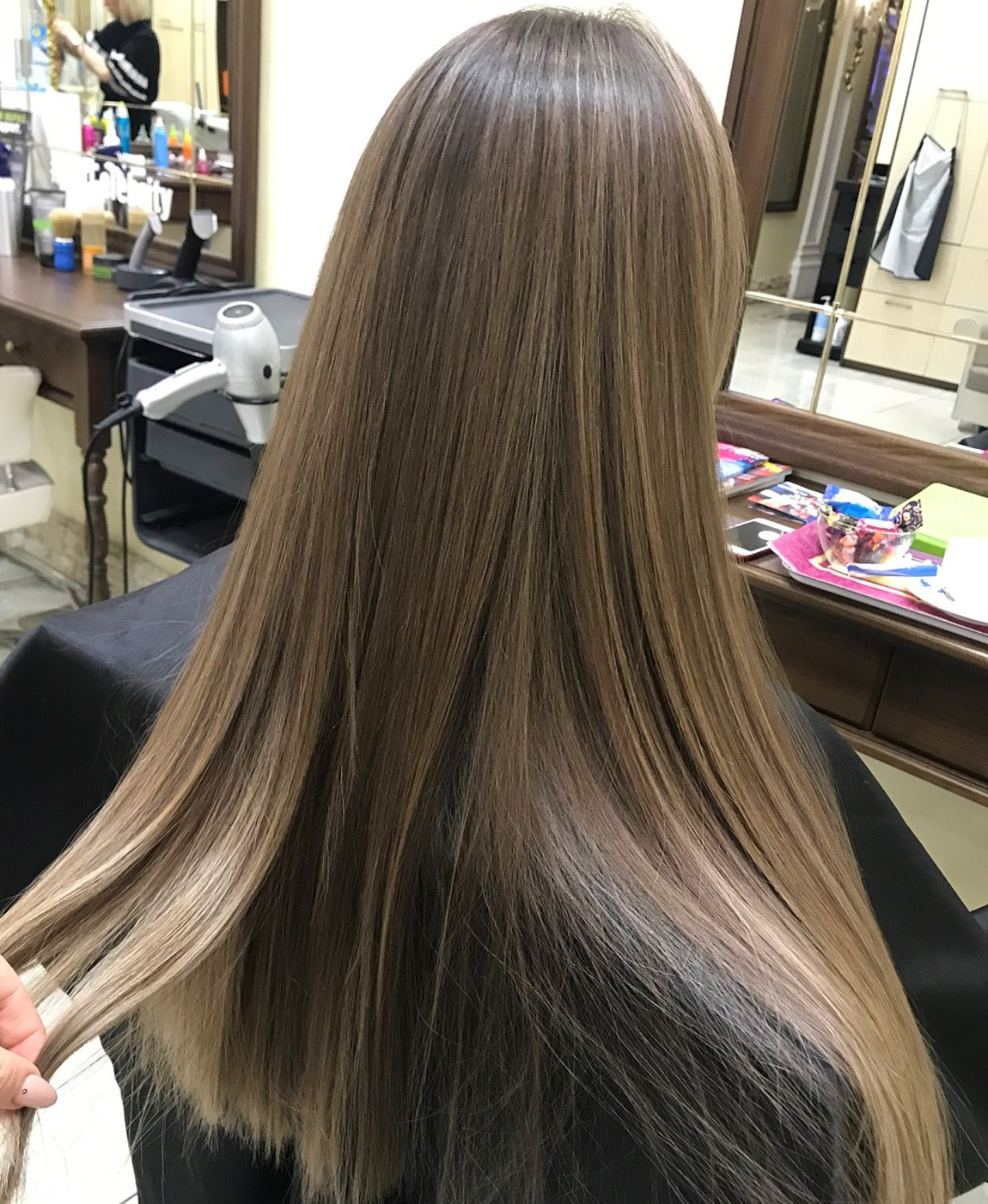 6454826ecc27 From uneven brassy color to light smokey ash brown. No bleach was used.