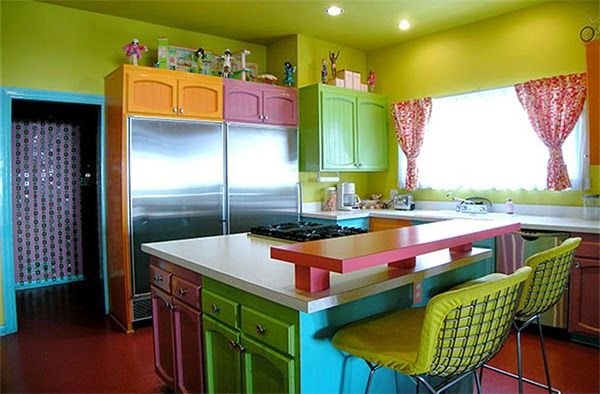 Furniture Selection To A Kitchen By Crazy Color Lovers Kitchen