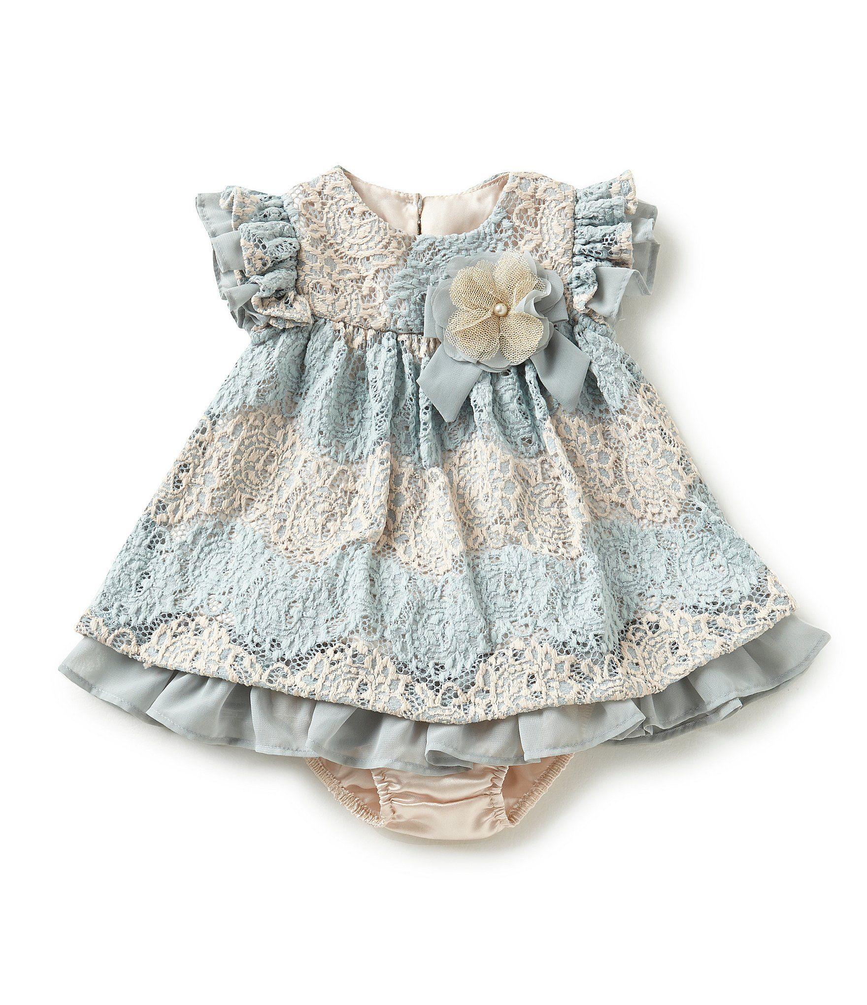 8b7dd89f0bd1 Shop for Bonnie Baby Baby Girls Newborn-24 Months Two-Tone-Lace ...