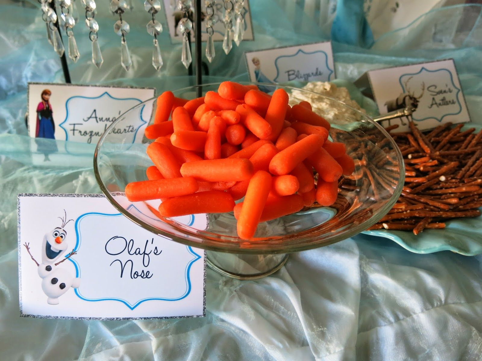 Elsa's Frozen Party Tablescape