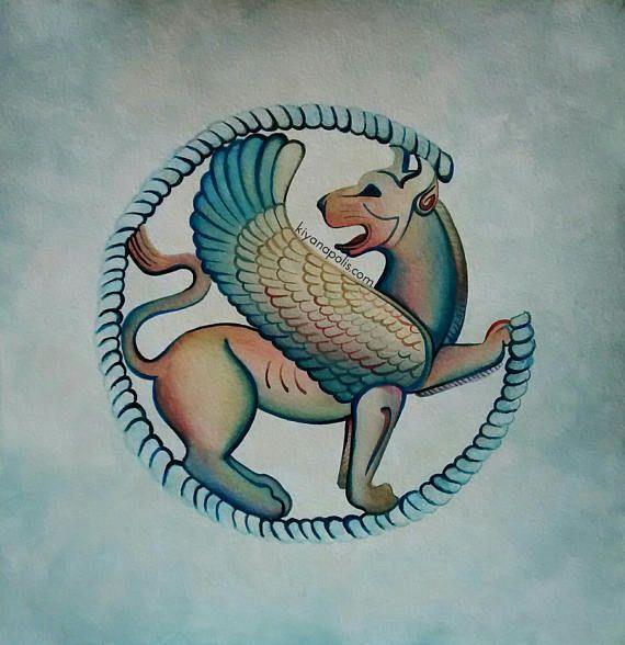 Persepolis Persian Lion Shiraz Iran Painting Persian Art Paisley Art Art Romantic Art