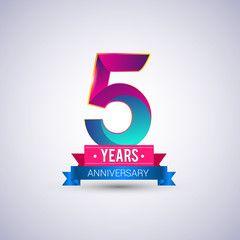 5 Years Business Anniversary Anniversary Logo 5 Year Anniversary Business Anniversary Ideas