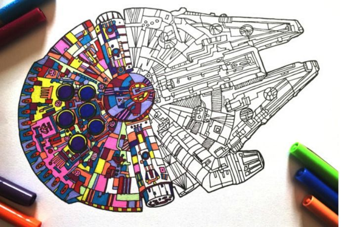 The Coolest Star Wars Force Awaken Coloring Pages