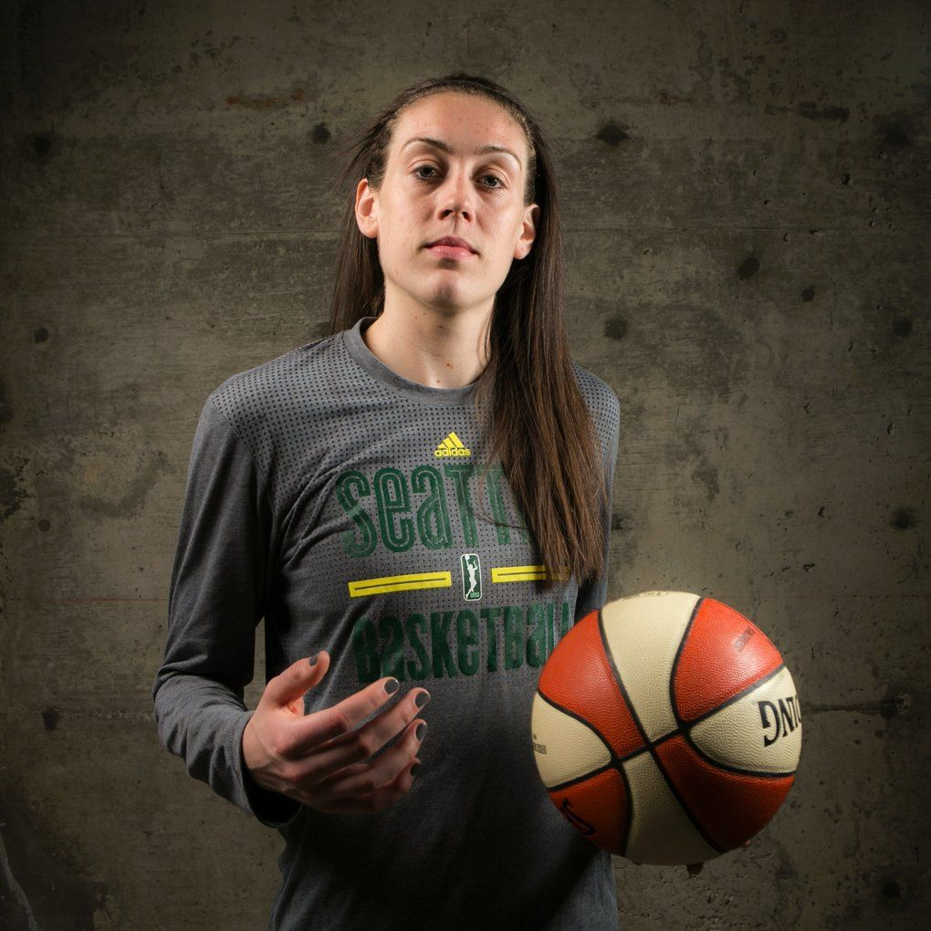 Breanna Stewart, rookie for the Seattle Storm, was the WNBA's first overall draft pick. She is a highly decorated player and just graduated from the University of Connecticut, a four-time NCAA national champion. (Bettina Hansen/The Seattle Times)