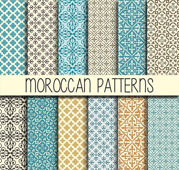 marokkanische fliesen arabisch muster instant von babushkadesign morocco pinterest. Black Bedroom Furniture Sets. Home Design Ideas