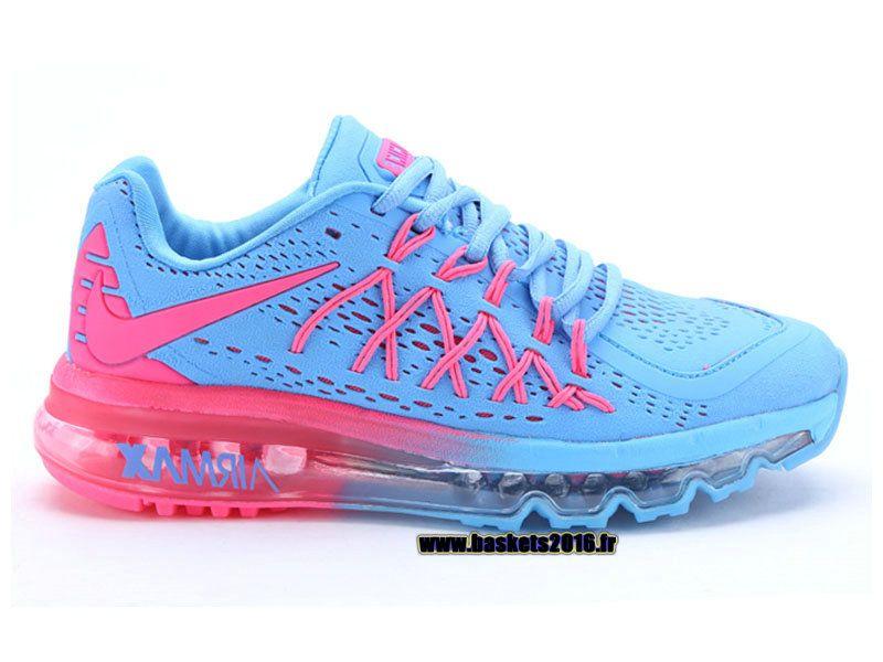 big sale 34dfe 75b1b Boutique Officielle Nike Air Max 2015 Chaussures Pas Cher Pour Femme Light  Blue - Rose