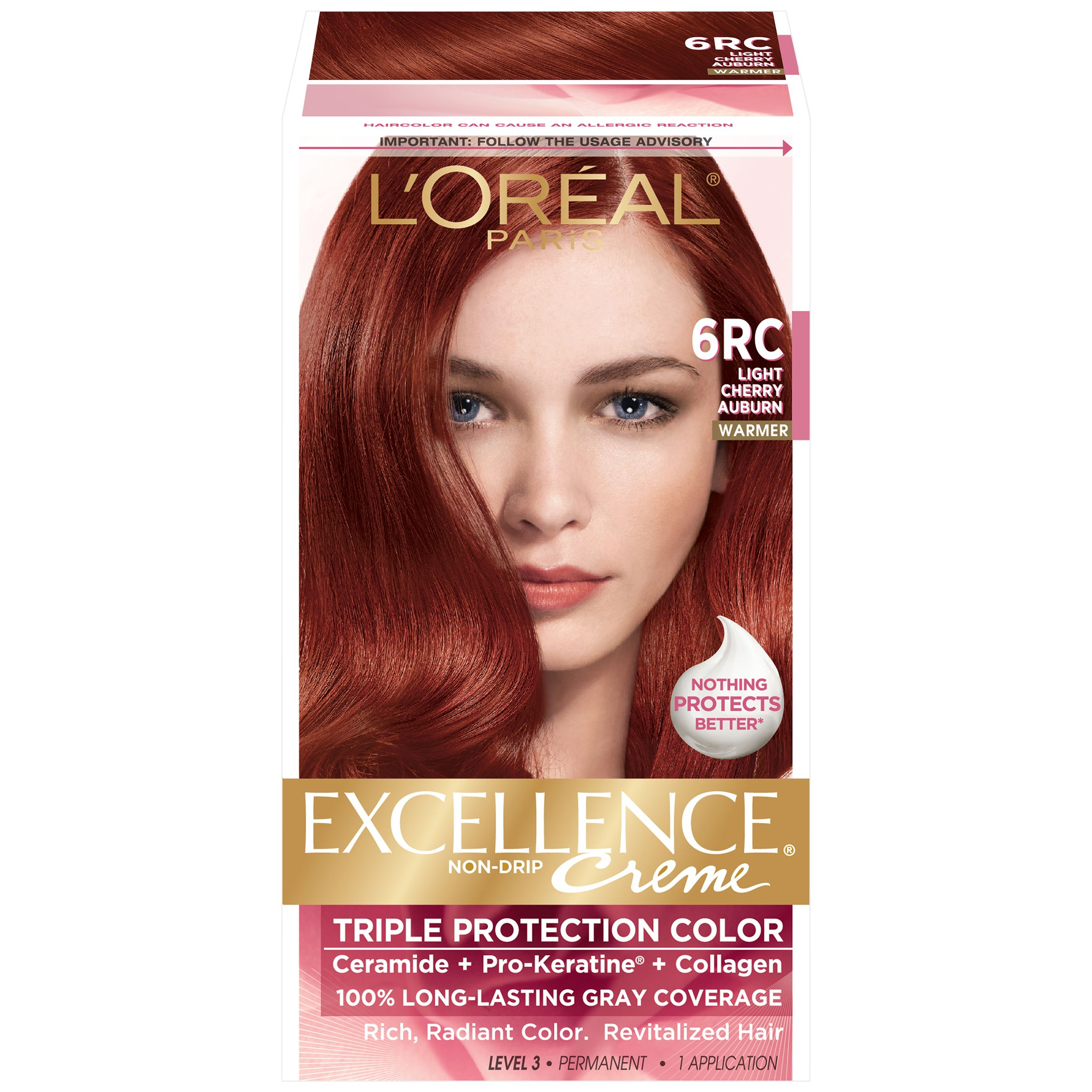 L Oreal 6rc Warmer Light Cherry Auburn Hair Color 1 Kt Box
