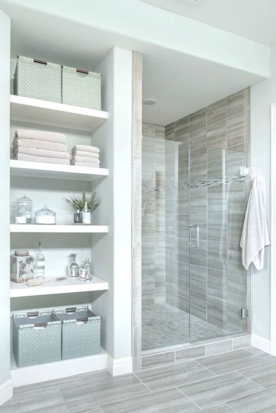 Photo of Small Bathroom Remodel: Navy & Neutral