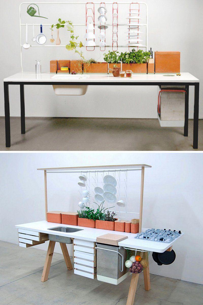 Freestanding kitchen. Time of the aquarius: design