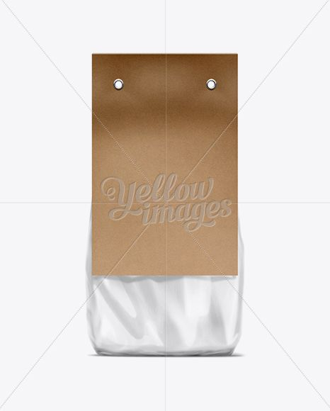 Download Clear Plastic Bag With Kraft Black Carton Label Mockup In Bag Sack Mockups On Yellow Images Object Mockups Clear Plastic Bags Packaging Mockup Plastic Bag