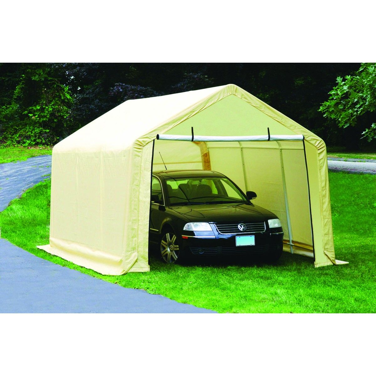 10 Ft X 17 Ft Portable Garage Portable Garage Car Canopy Portable Sheds